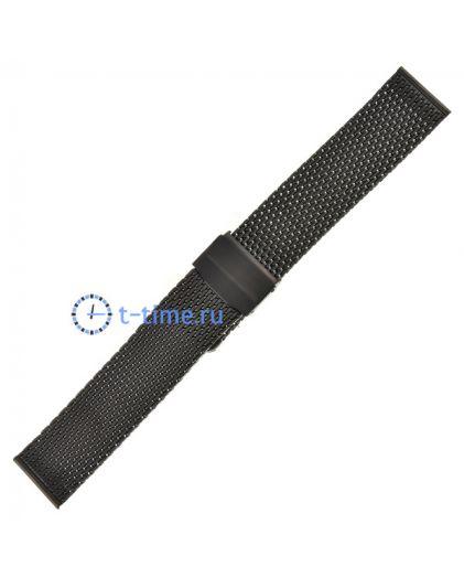 Браслет миланское плетение черный 22мм