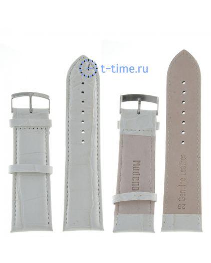 Modeno 26 мм бел croco с серебряной застёжкой A000 ремень