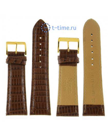 Nagata 24 мм св.кор змея с золотой застёжкой ремень