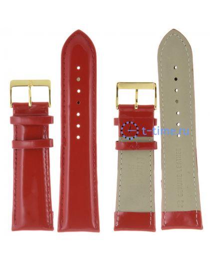 Nagata 26 мм крас лак с золотой застёжкой ремень