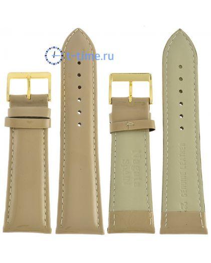 Nagata 24 мм беж лак с золотой застёжкой ремень