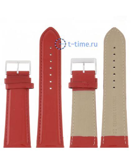 Nagata 26 мм крас лак с сереб застёжкой ремень