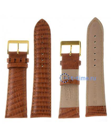 Nagata 24 мм змея оранж-кор с золотой застёжкой ремень