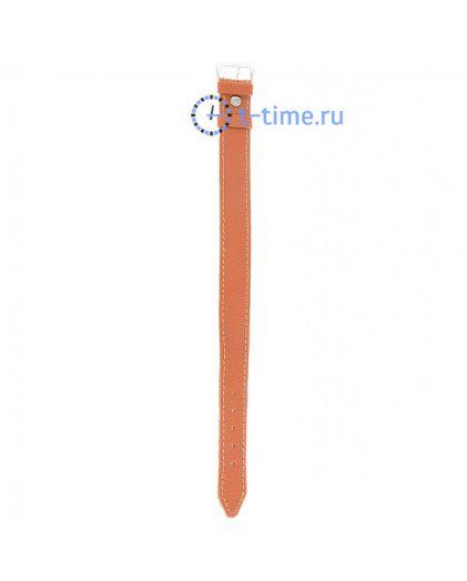 Знамя №81 мод. 18 мм оранж croco серебр заст ремешок