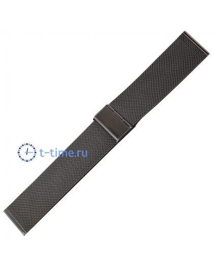 24 мм черный миланское плетение