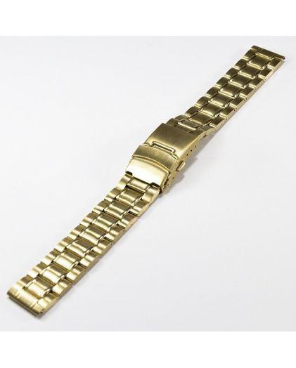 20 мм золото сталь браслет с двойной застежкой