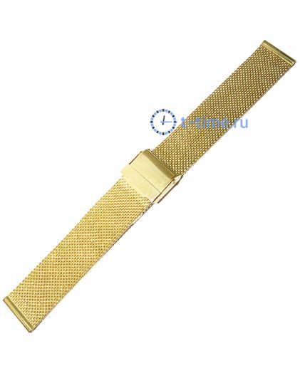 20мм сетка миланское плетение золотистый
