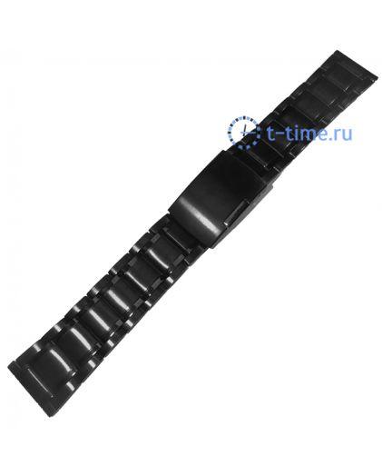 Браслет INOX Plus N-412-24 Black черный 24 мм