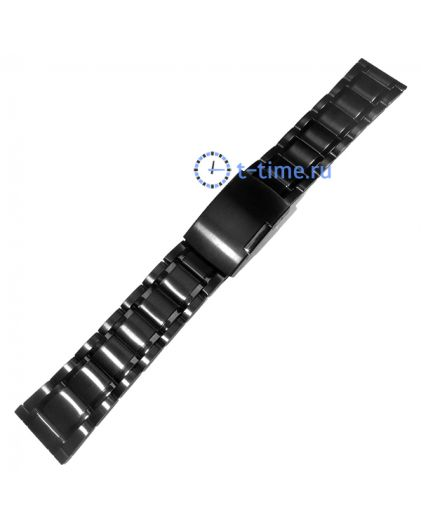 22 мм чер браслет INOX Plus N-412-22 Black