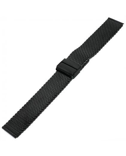 24 мм браслет черный миланское плетение INOX Plus M-414-24 Black