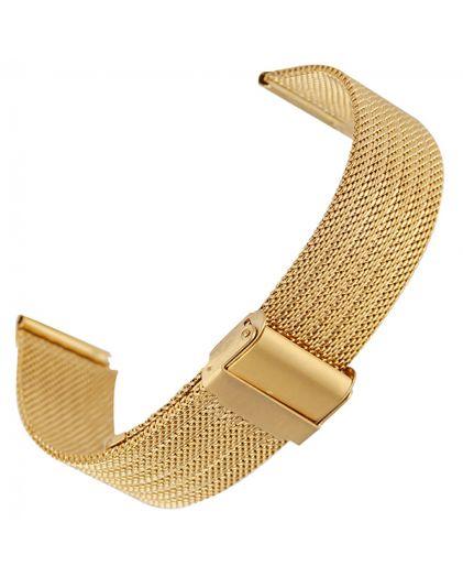 Браслет миланское плетение 20 мм золотистый