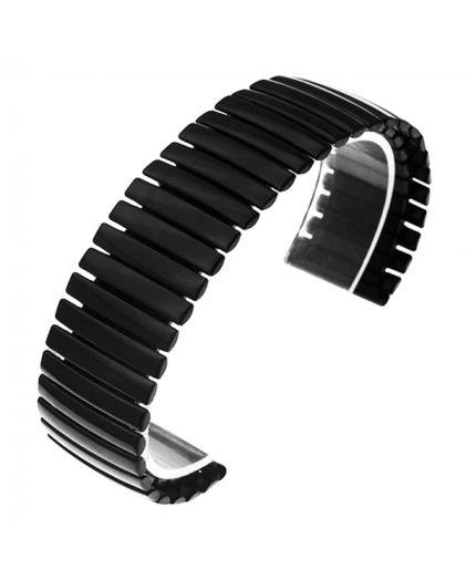 Браслет резинка 14 мм черный