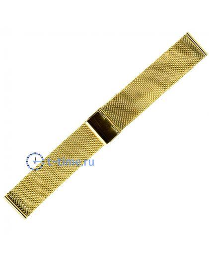20мм сетка миланское плетение золотистый браслет