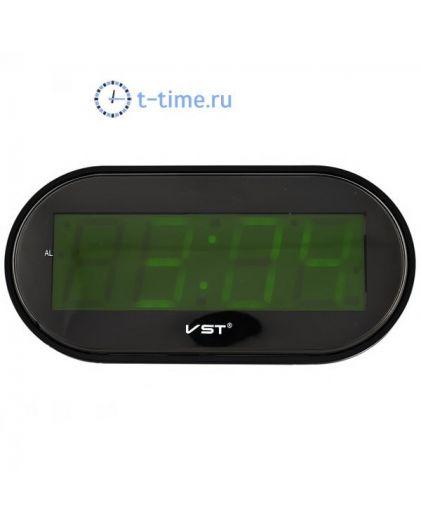 Часы сетевые VST801-2 часы 220В зел.цифры+блок-30