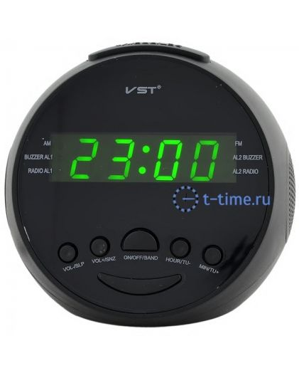 Часы сетевые VST909-4 часы 220В+ радио зел.цифры-30