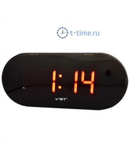 Часы сетевые Vst VST717-1 часы 220В красн.цифры-40
