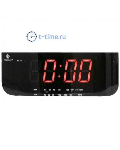 Часы сетевые Perfect 1826 Black-Red RD 24