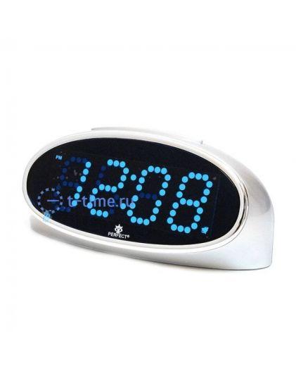 Часы сетевые Perfect E150 silver blue\24