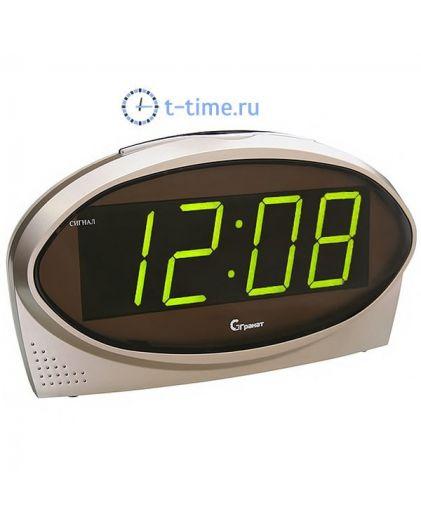 Часы сетевые Гранат C-1232-Зел