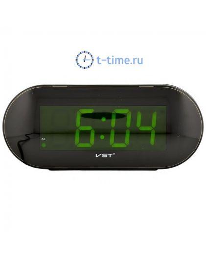 Часы сетевые VST717-2 часы 220В зел.цифры-40