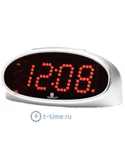 Часы сетевые Perfect E150 silver red\24