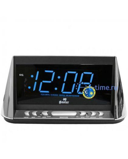 Часы сетевые GASTAR SP 3268blue Будильник