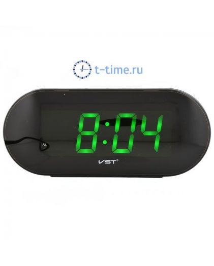 Часы сетевые VST717-4 часы 220В зел.цифры-40