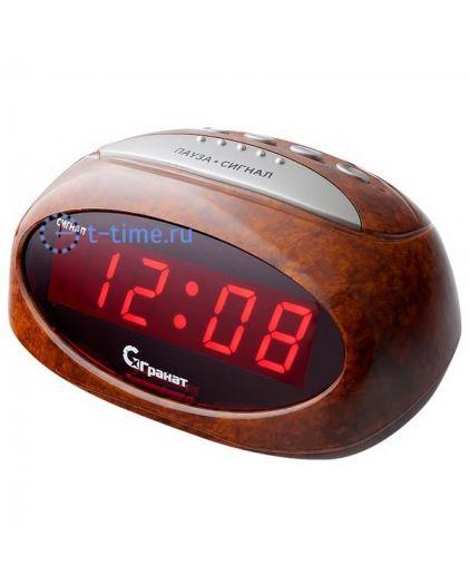 Часы сетевые ГРАНАТ C-0677-Крас