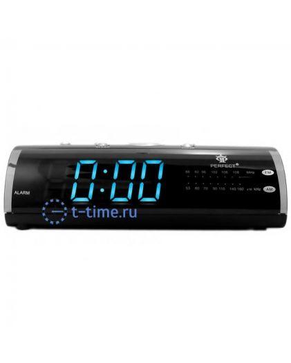 Часы сетевые Perfect 1626 Black-Blue RD 24