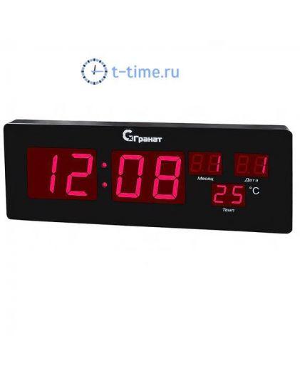 Часы сетевые ГРАНАТ C-2512Т-Крас