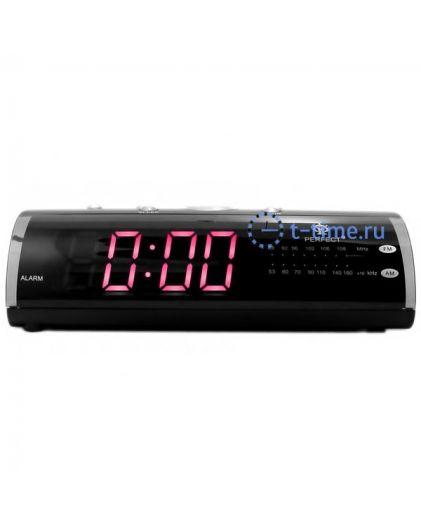 Часы сетевые Perfect 1626 Black-Red RD 24