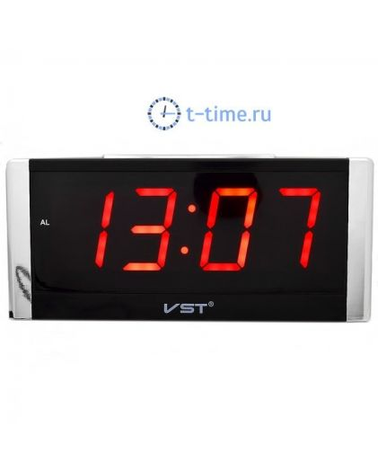 Часы сетевые Vst VST731-1 часы 220В красн.цифры-30
