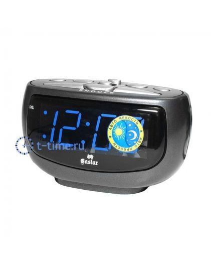 Часы сетевые GASTAR SP 3310 blue Будильник