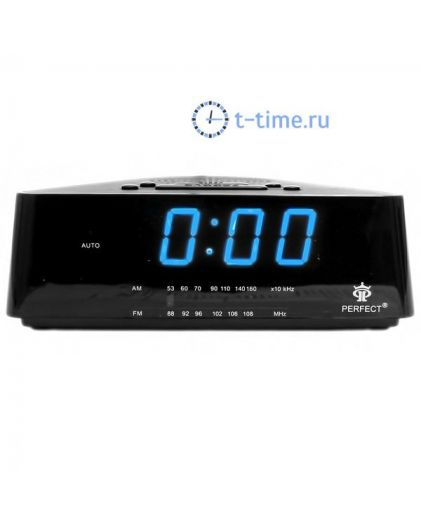 Часы сетевые Perfect 433 Black-Blue RD 24