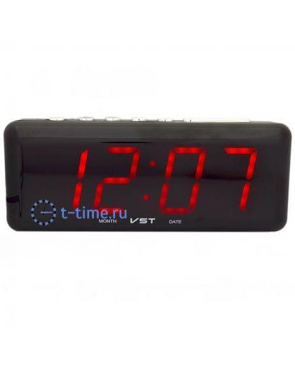 Часы сетевые VST762-1 часы 220В красн.цифры-30