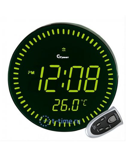 Часы сетевые Гранат C-1009-Зел