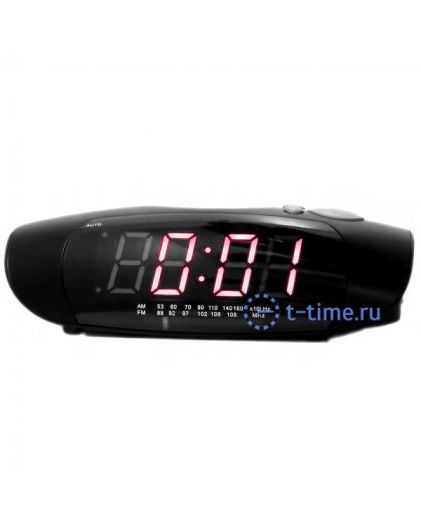 Часы сетевые Perfect 1726 Black-Red RD 24