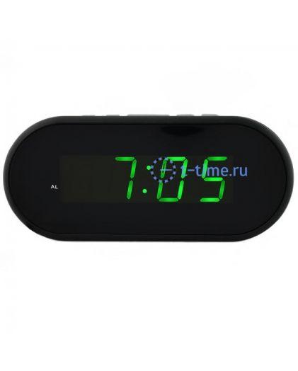 Часы сетевые VST712-4 часы 220В зел.цифры-40