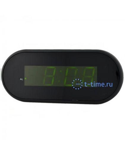 Часы сетевые Vst VST715-2 часы 220В зел.цифры-40