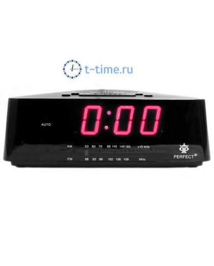 Часы сетевые Perfect 433 Black-Red RD 24