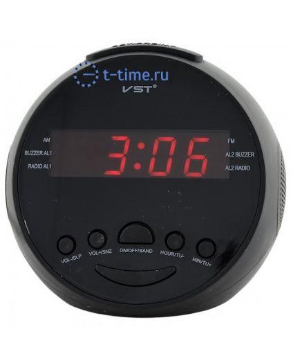 Часы сетевые VST909-1 часы 220В+ радио красн.цифры-30
