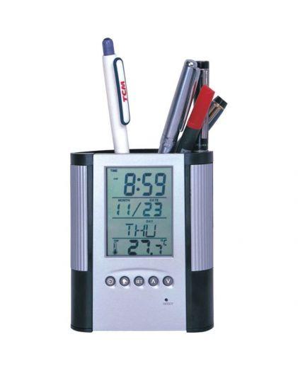 Часы будильник подставка для ручки №306