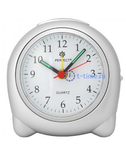 Perfect PD398Si сер будильник кварц