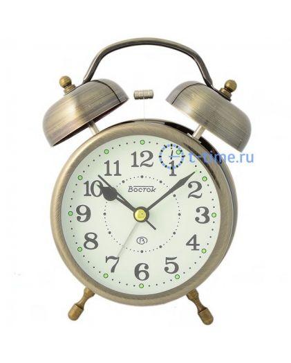 ВОСТОК K 896-6 будильник кварцевый