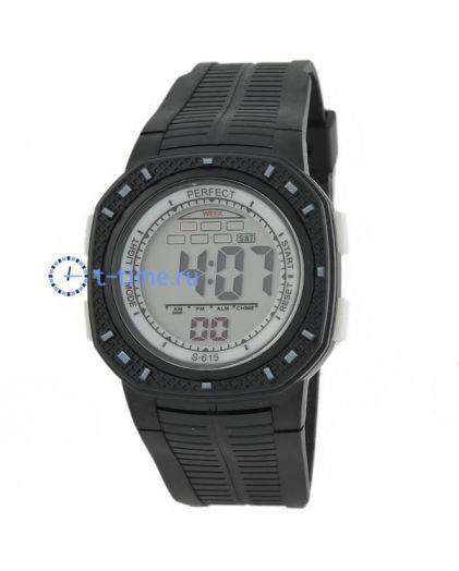 Часы PERFECT 615 чер LCD sport