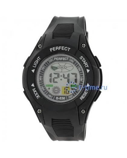 Часы PERFECT 836 чер LCD sport