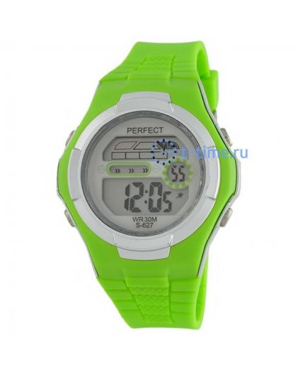 Часы PERFECT 627 зел LCD sport
