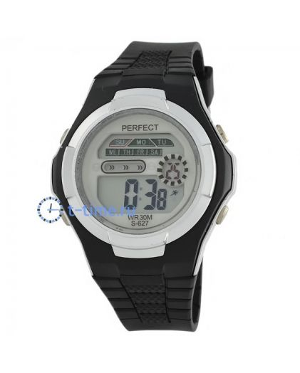 Часы PERFECT 627 чер LCD sport