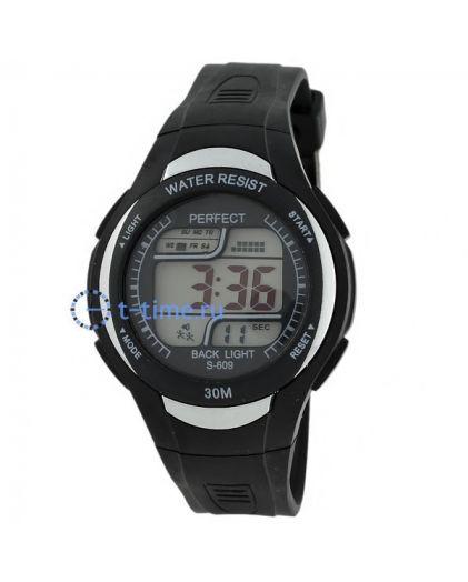 Часы PERFECT 609 чер LCD sport
