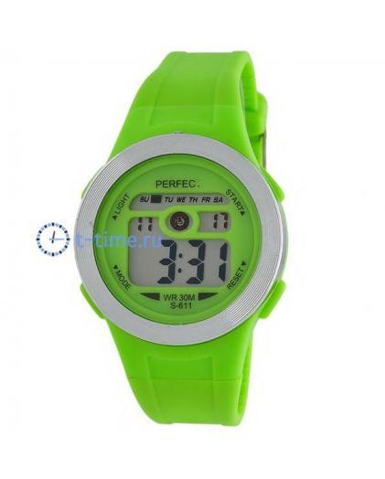 Часы PERFECT 611 зел LCD sport